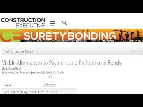 Alternatives to a Performance Bond