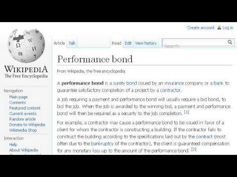 What is a Performance Bond in Construction?