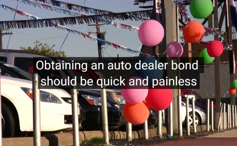 Auto Dealer Bond, Motor Vehicle Dealer Surety Bond